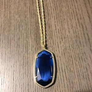 Kendra Scott Jewelry - Kendra Scott Gold Reid Necklace in Navy Cat Eye